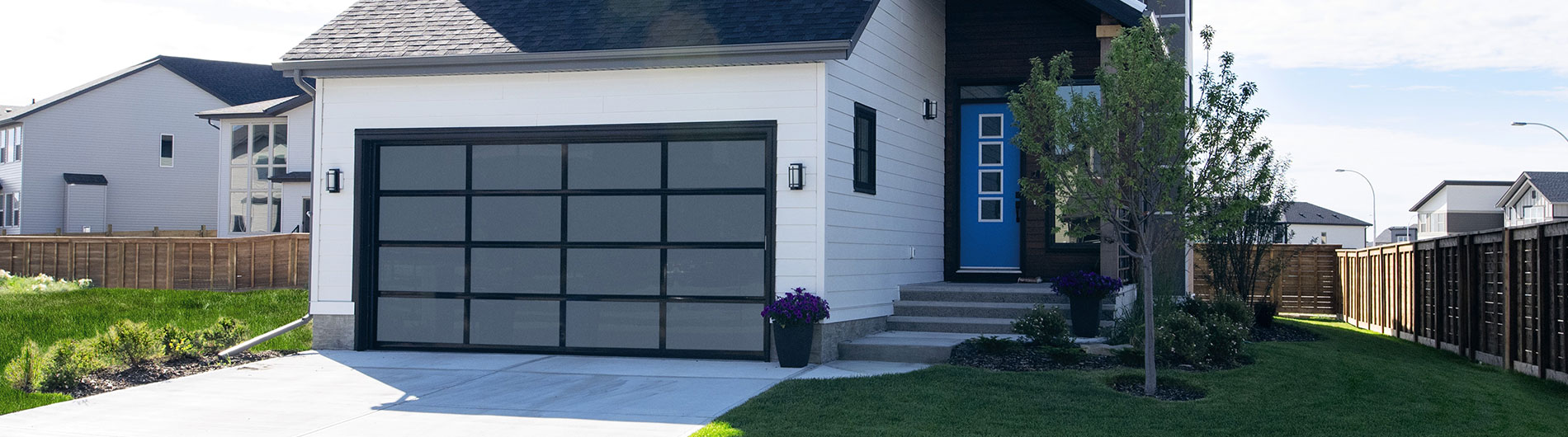 View Larger Image & Aluminum Glass Garage Doors 8850 From Precision Door - Precision ...