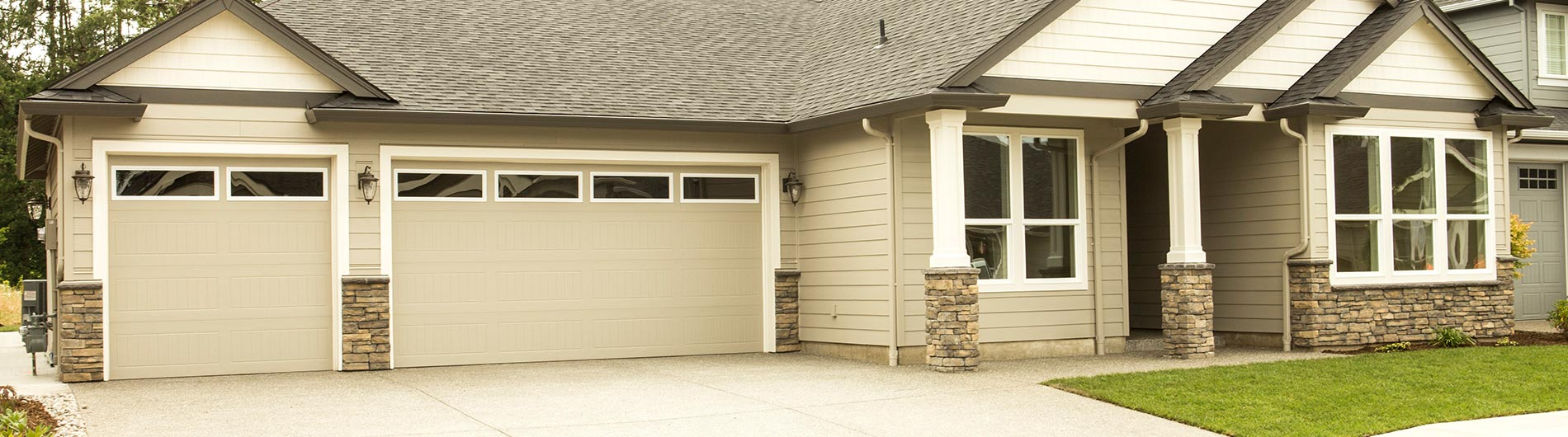 Steel Garage Door Sonoma Ranch Taupe ClearIV & Steel Garage Door Sonoma Ranch Taupe ClearIV - Precision Doors of ...