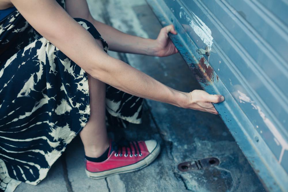 woman needing to replace your garage door